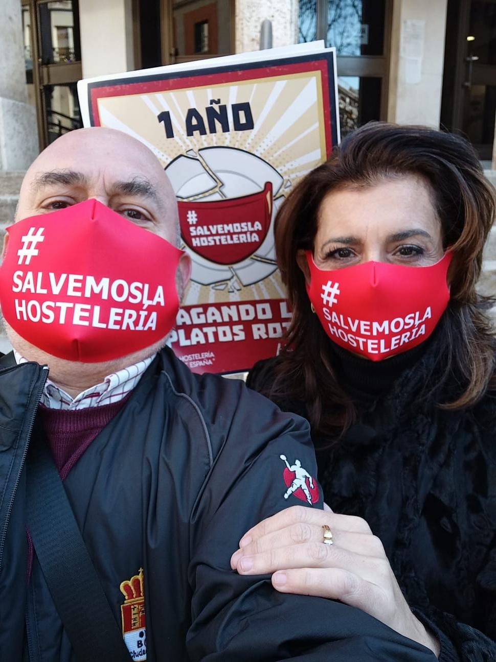 Cristina y Rafael en la concentración